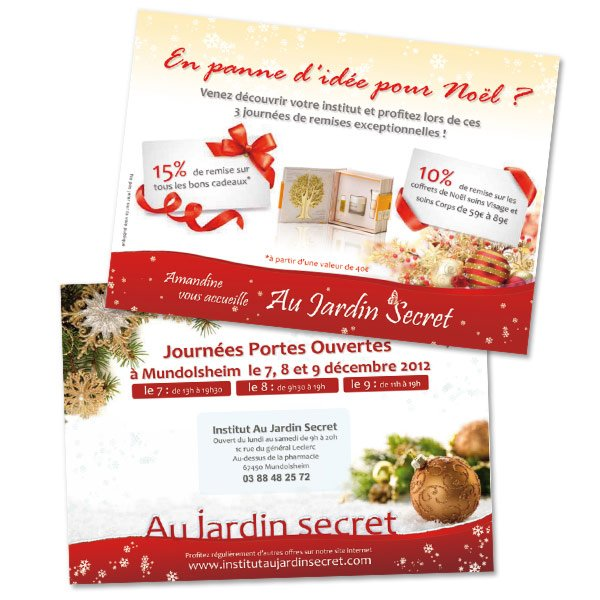 Nouvelle flyers au jardin secret anopixel agence web for Au jardin secret de tadine