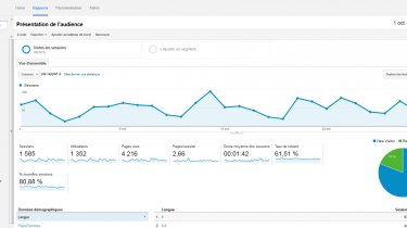 Google Analytics - Par mois